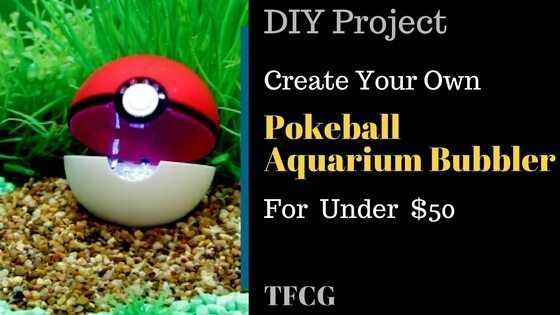 DIY - Pokéball Aquarium Bubbler.