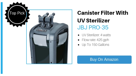 JBJ PRO-35 Professional Reaction 4-Stage Canister Filter (1)